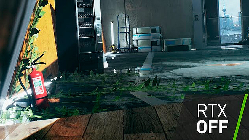 RTX ray tracing effect uit.