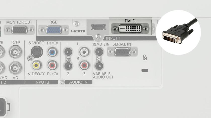 Beamer DVI-D input