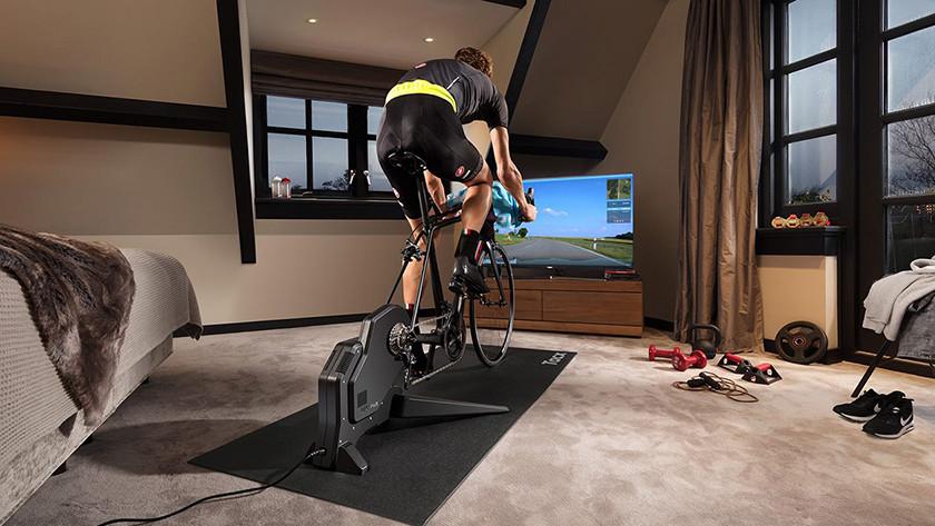 Limit bike trainer noise