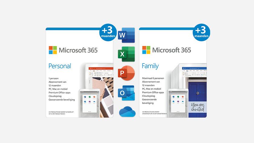Microsoft 365 3 maanden extra.