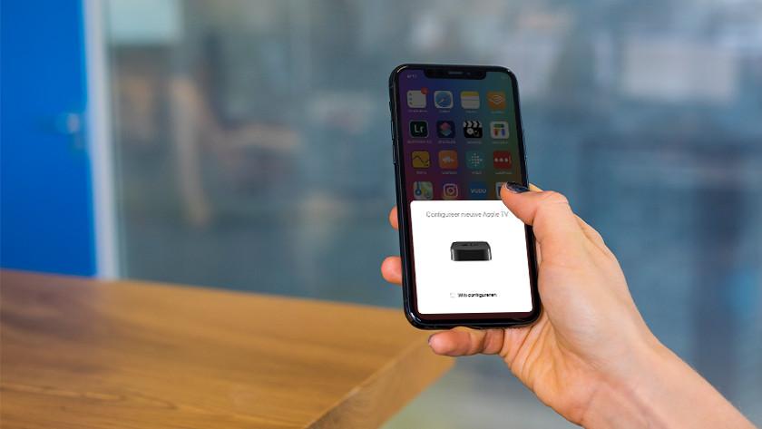 configureer Apple TV met je Apple apparaat