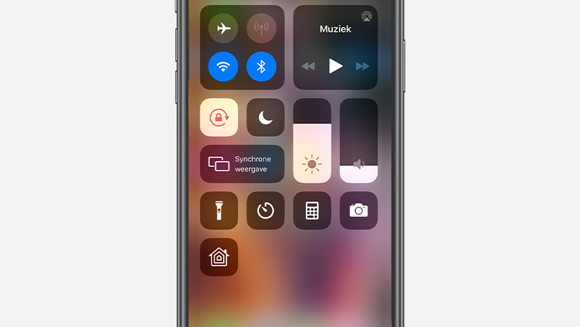 iPhone synchrone weergave