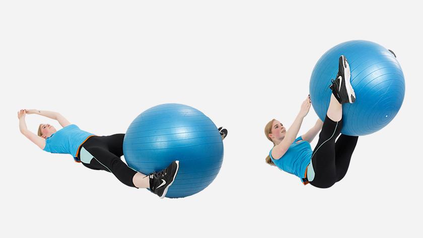 uitleg V-pass fitnessbal