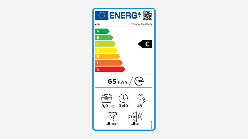 Energy label AEG 7000 series washing machine