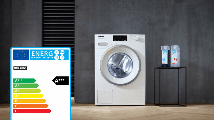 Energy label Miele washing machine