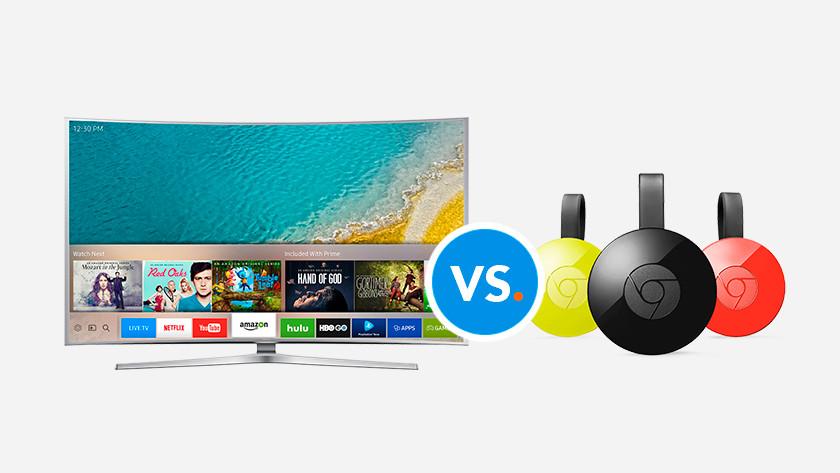 De verschillen tussen smart tv en Chromecast