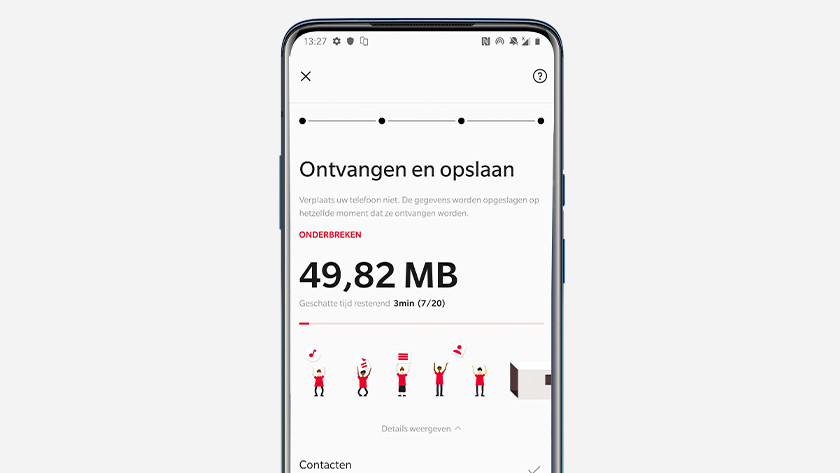 Transfer OnePlus Switch data
