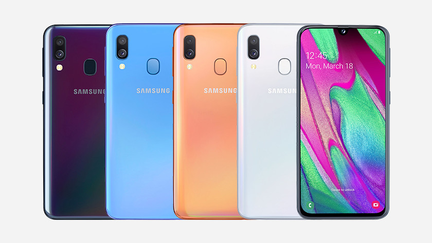 samsung galaxy a40 line up
