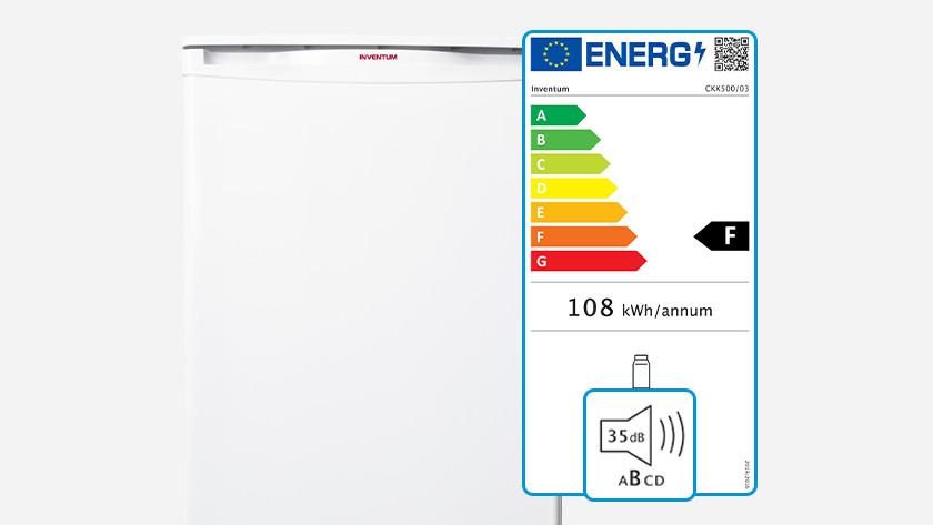 Noise level on energy label