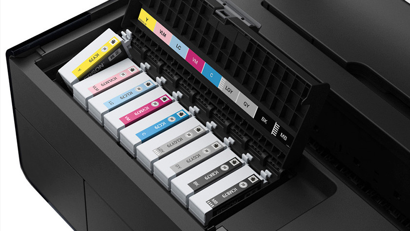 cartridges in printer
