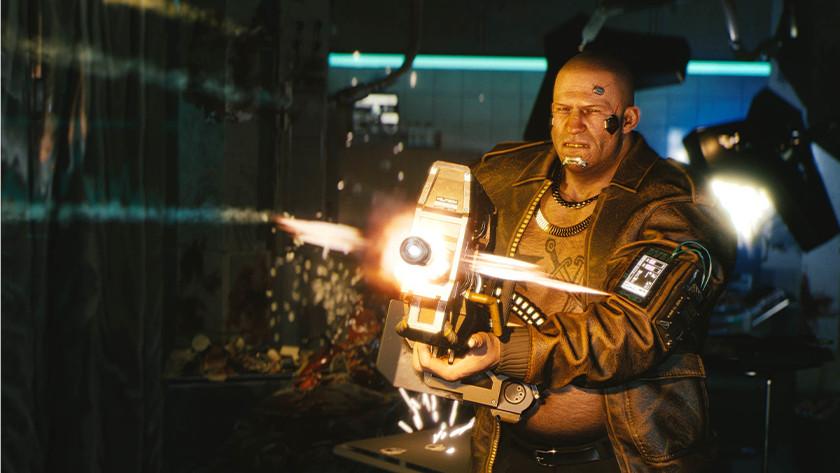 Screenshot van videogame.