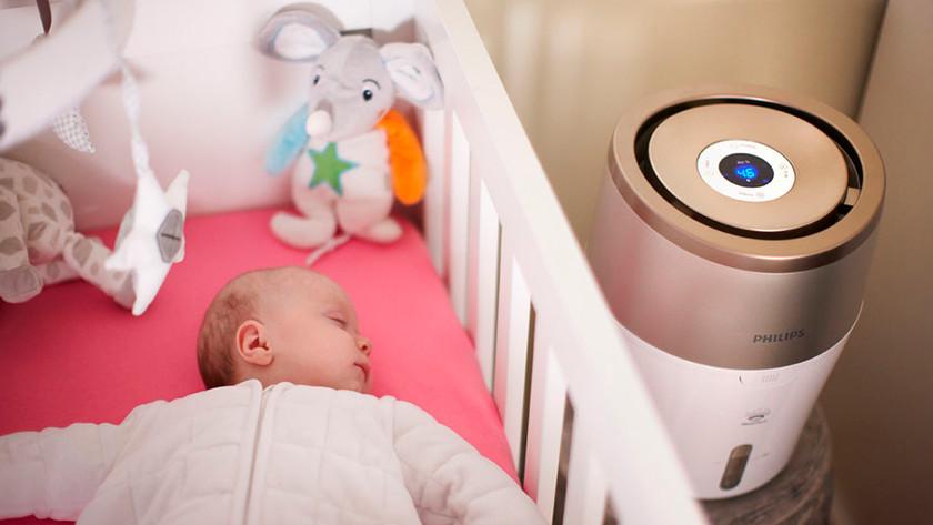 Luchtbevochtiger in de babykamer