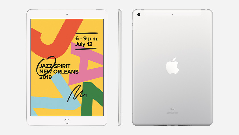 iPad 2019 front, back, and side