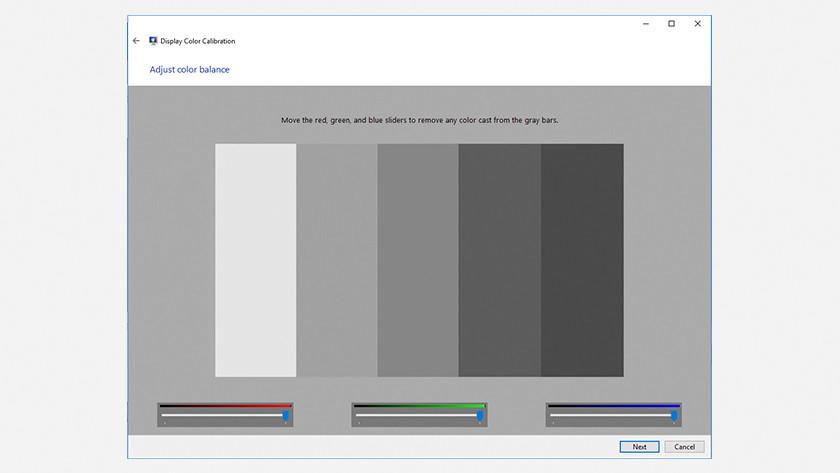 Calibrate Windows 10 screen.