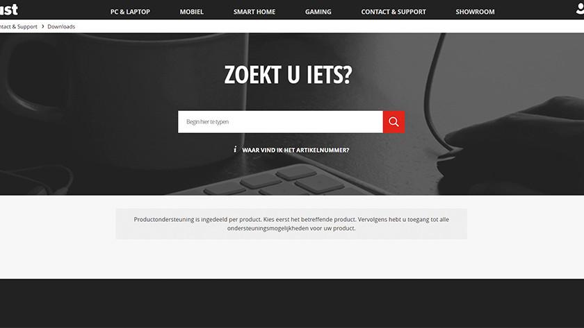Vind je product op de Trust website