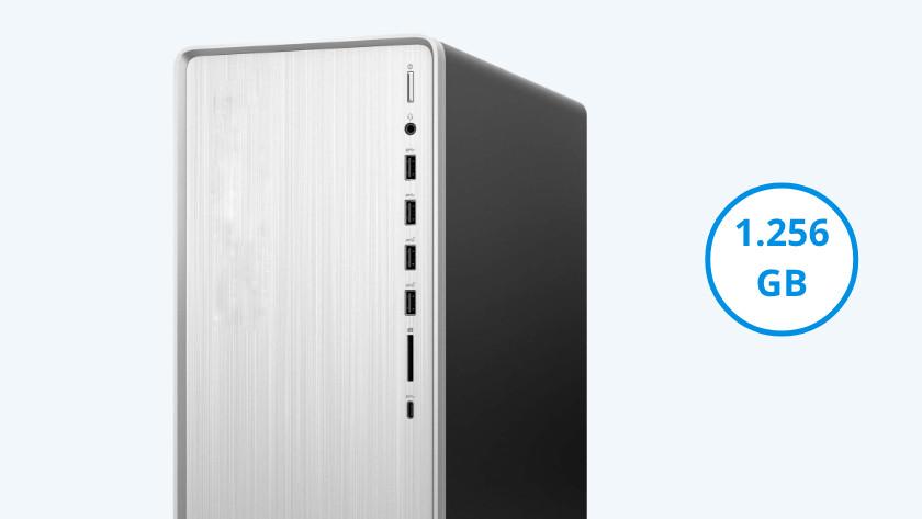 HP Pavilion TP01 met 1256 gigabyte opslag