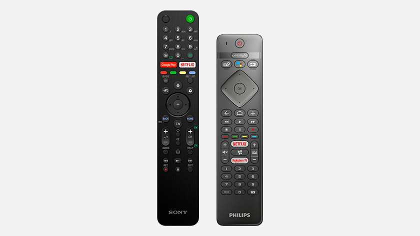 Sony and Philips remote