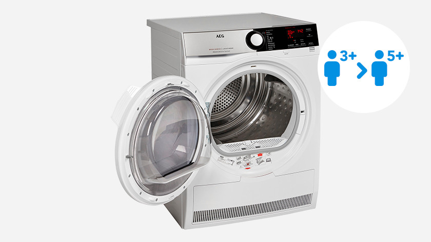 Load capacity AEG 8000 dryer