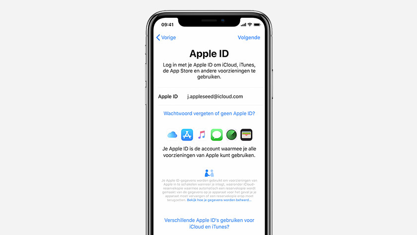 iPhone installeren Apple ID