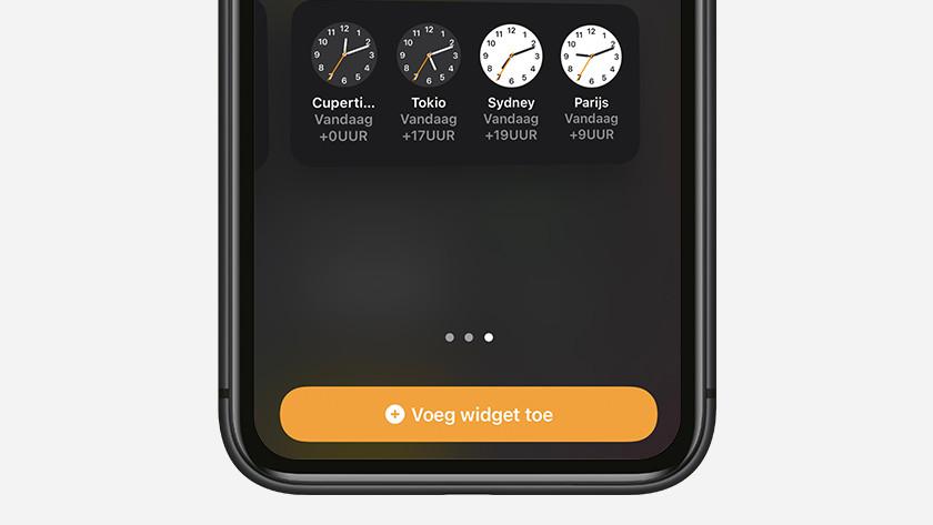 Kies de grootte en tik op 'Voeg widget toe'