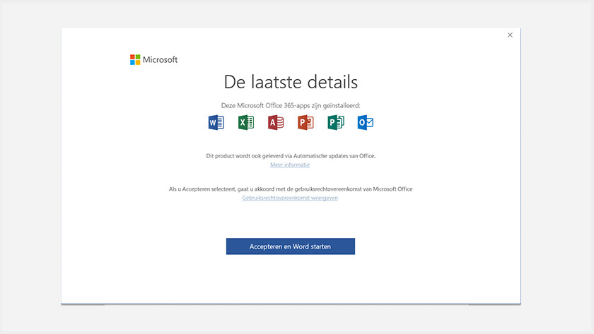 Activate Microsoft Office via apps