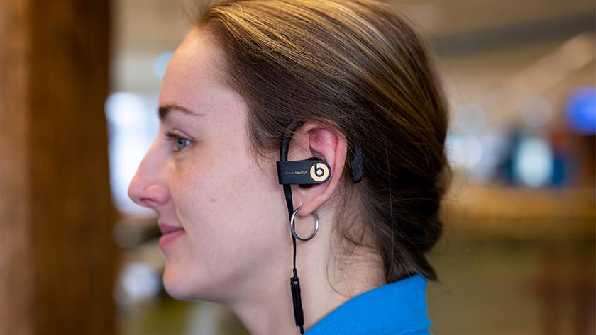 Earbud in ear