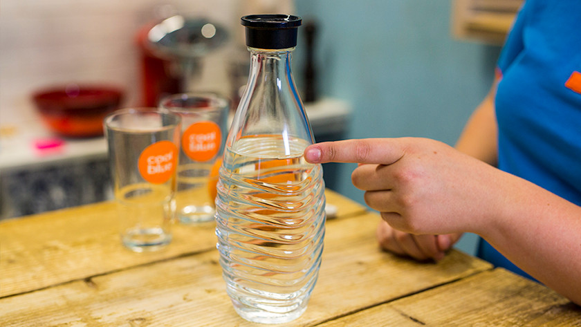 Waterstreep SodaStream fles