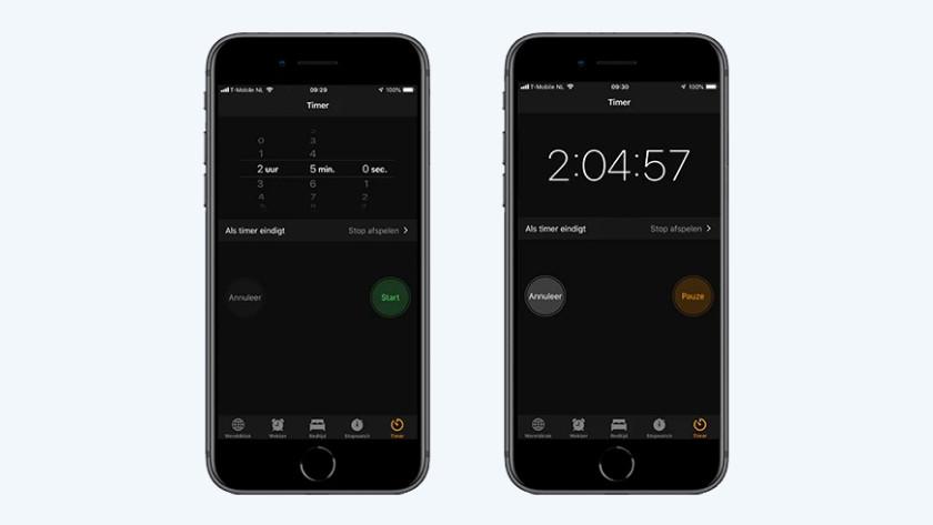 iPhone muziek timer
