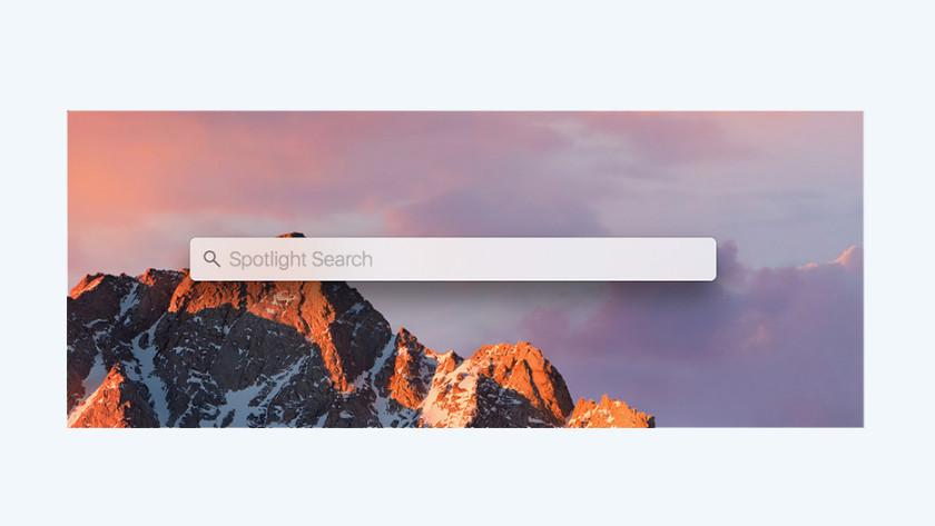 Apple MacBook berekeningen Spotlight