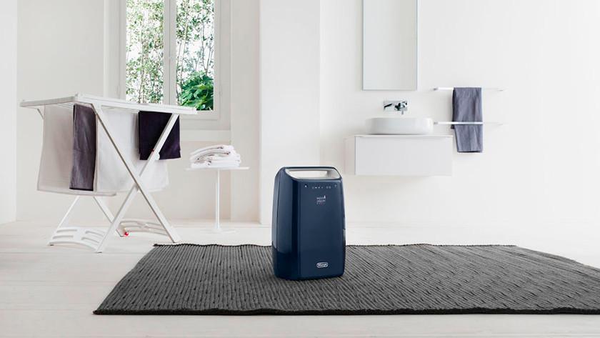 Dehumidifier in laundry room