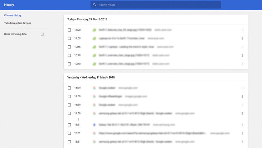 Delete Google Chrome browser history.