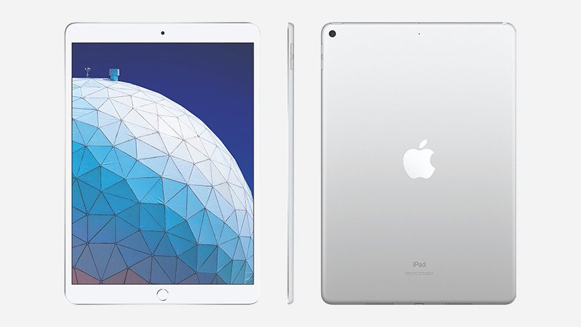 iPad Air front, back, and side