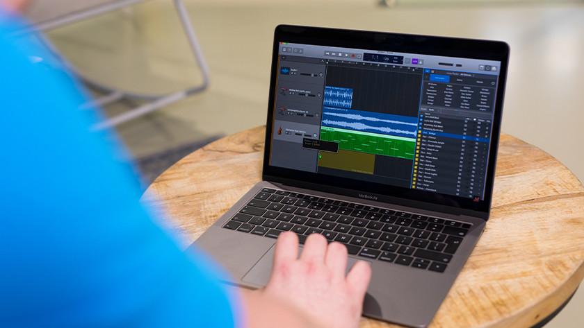 Apple MacBook in gebruik