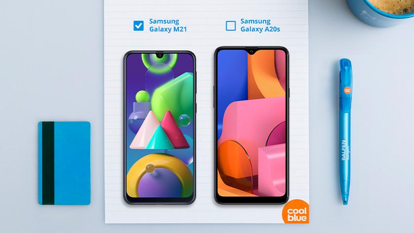 Samsung M21 vs A20s formaat