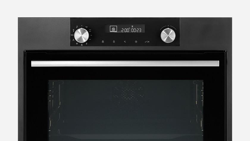Display van inbouw oven