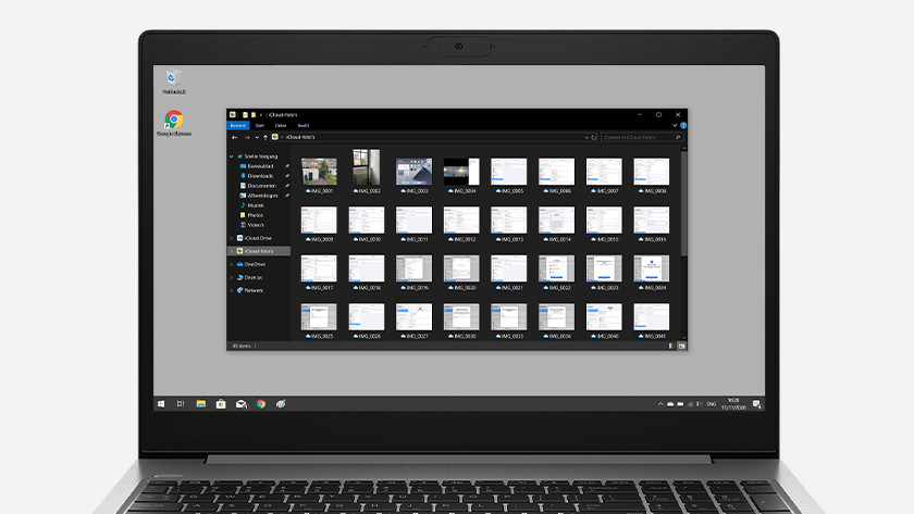 Foto's selecteren Windows verkenner