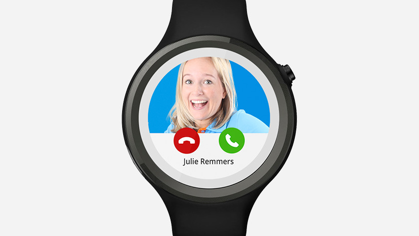 making calls on a smartwatch