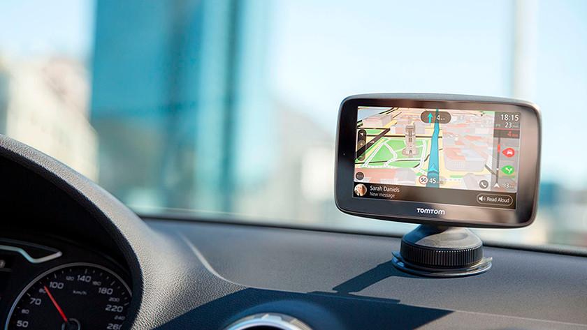 TomTom navigation system in mount