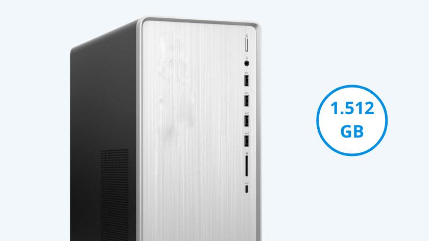 HP Pavilion TP01 met 1512 gigabyte opslag