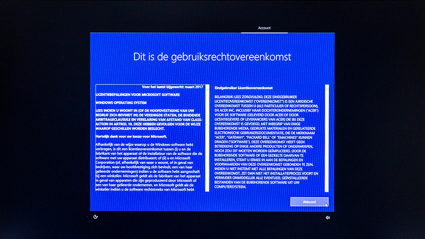 Gebruiksrechtovereenkomst Windows.