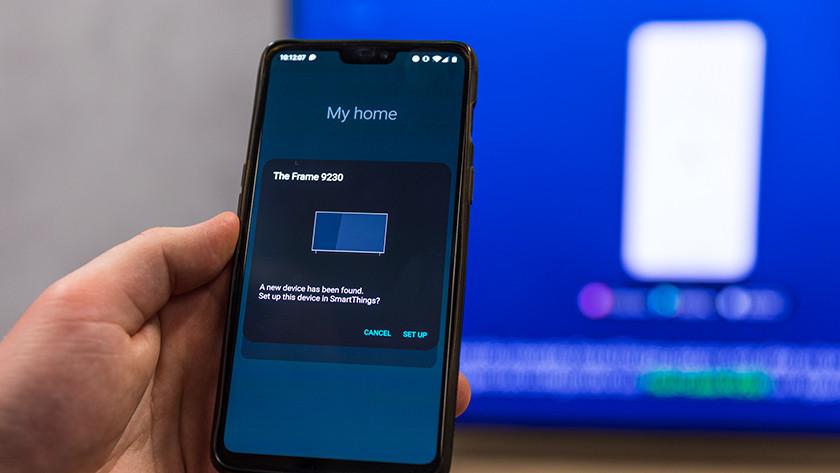 Tv kiezeen SmartThings app