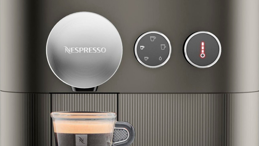 Making coffee with a Nespresso machine