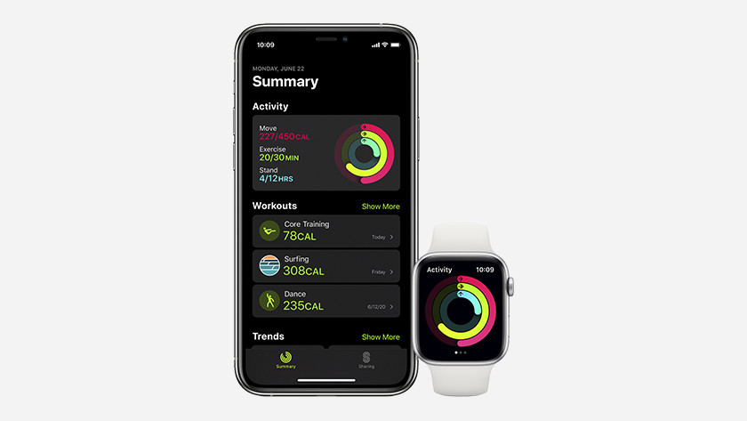 watchOS 7 Fitness workout app