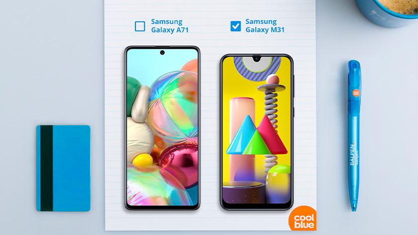 Samsung M31 or Samsung A71 screen size