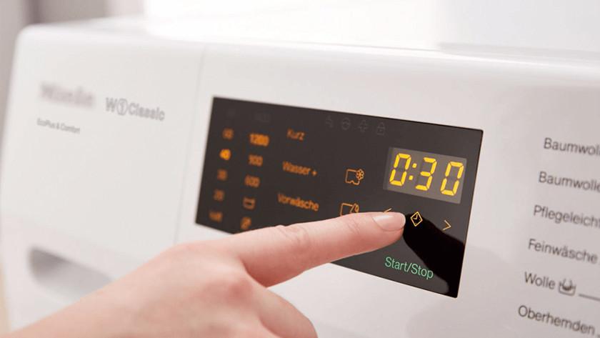 Display Miele wasmachine