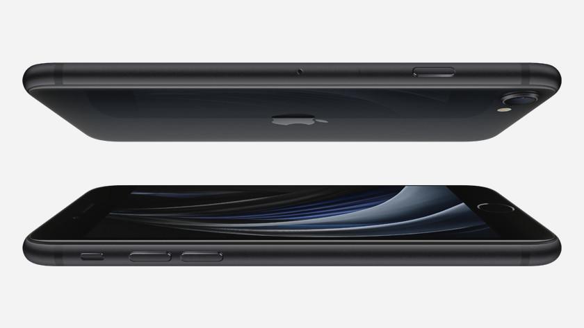iPhone SE achterkant en scherm