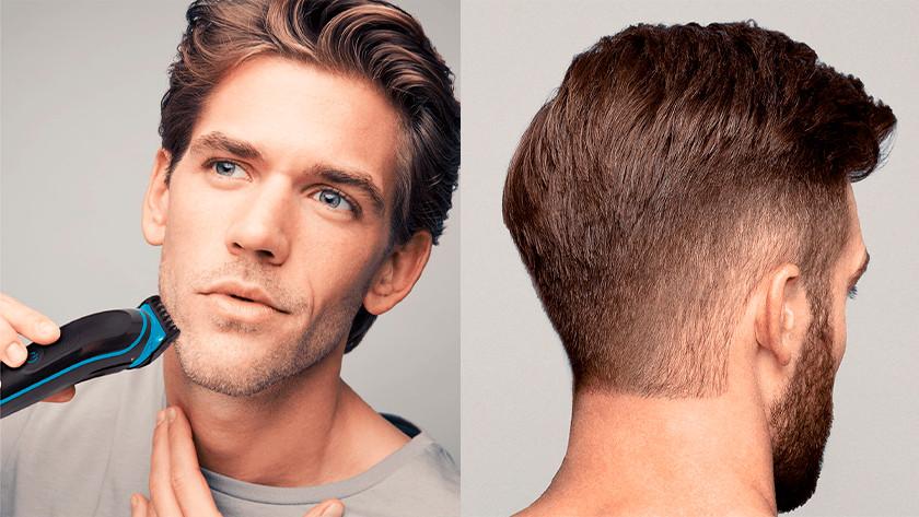 Baard en hoofdhaar trimmen