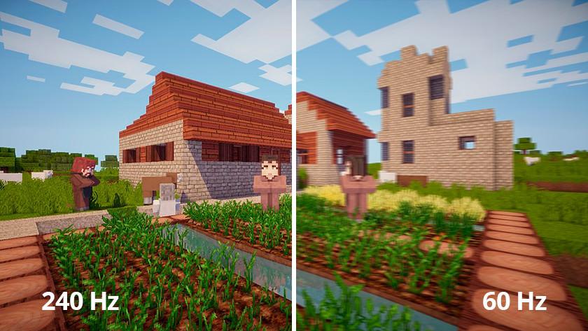 Verschil in aantal Hz in Minecraft
