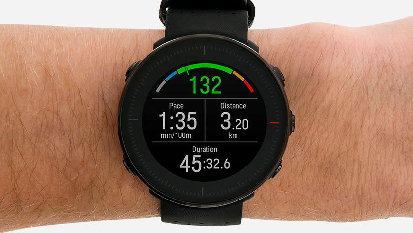Sports watch with heart rate zones