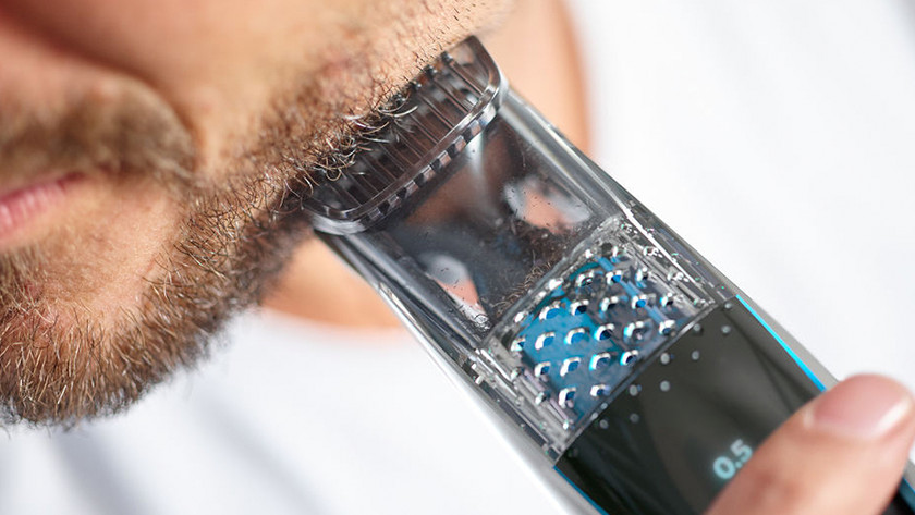 Philips beard trimmer with vacuum system